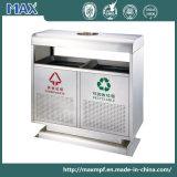 120L Ss Dust Bin Exterior Recycling Waste Bin