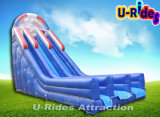 EN 14960 deep inflatable water slide inflatable bouncer slide with pool for kids and adults