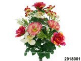 Artificial/Plastic/Silk Flower Rose/Orchid/Gerbera//Hydrangea Mixed Bush (2918001)