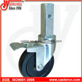 Wanda 5 Inch Hard Rubber Scaffold Caster with Square Steel Stem