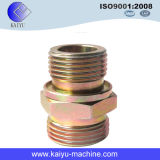 Male Pipe Fitting, Straight Connector NPTF Male with Steel Material