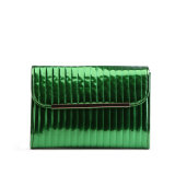 New Arrival Fashionable Mirror PU Clutch with Embroidery for Girls
