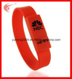 Eco-Friendly Silicone Wristband USB Flash Disk for Promotion (YH-USB011)