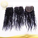 Unprocessed Peruvian Virgin Curly Wave Hair Lace Closure