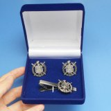 Fraternity and Sorority Cufflinks and Tie Clip Packing with Velvet Gift Box