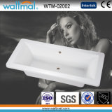 Rectangular White Acrylic Bathtub, Bath Tub Sanitary Ware