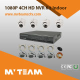 P2p NVR Kit 4PCS 720p IP Camera and NVR Night Vision Security Surveillance System 4 Channel Kit for Home Factory Supermarket Use