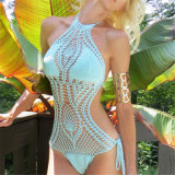 Sexy Ladies Hand Crochet Beachwear Swimming Suit One Piece Swimwears