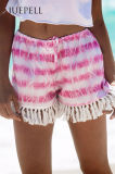 Fringe Beach Print Women Short