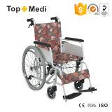 European Style Light Weight Aluminum Manual Wheelchair with Hand Brake