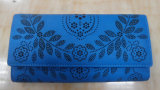 Hot Sale Fashion Trendy Laser Punch Lady Wallet (A-014)