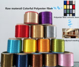 Polyester Colorful Fiber for Wall Decoration Sound Insulation Material and Construction Road