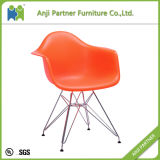General Use Home Furniture PP Seat with Metal Frame Dining Chair (Coral)