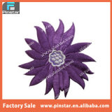 Factory Direct Made Purple Flower Blossom Iron on Embroidered Patch
