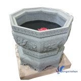 Grey Landscaping Stone Flower Pot