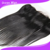Raw Unprocessed Virgin Brazilian Hair 13*4 Ear to Ear Lace Frontal Silky Straight Lace Frontal Closure (F-003)