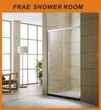 One Sliding One Fixed Tempered Glass Shower Door Bathroom Furniture Shower Room