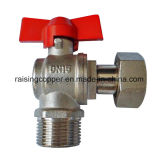 Nickle Plated Angle Water Meter Ball Valve