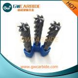 Durable Solid Carbide Flat Endmills 6 Flutes Tialn Coating