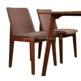 Wooden Legs Fabric Restaurant Dining Chair