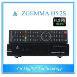 Enigma2 Linux H. 265 Decoding TV Receiver Twin DVB S2 Zgmma H5.2s