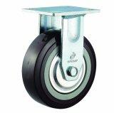 4-8 Inch Heavy Duty Black PU Caster Wheel (Fixed)