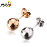 Classic Jewelry Fashion Women Stainless Steel Round Stud Earrings