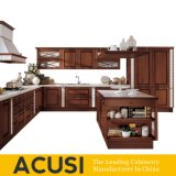 Wholesale Island Style Classical Solid Wood Kitchen Cabinet Kitchen Furniture (ACS2-W05)