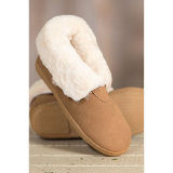 Children′s Sheepskin Shearling-Lined Suede Slipper Booties