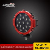 """7"""" off Road 51W LED Driving Light for Jeep"""