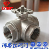 T Type Three Way Ball Valve with ISO5211 Mounting Pad