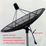 Satellite C Band 9 Feet 300cm/3m Polar Mount Aluminum Mesh Dish Antenna From China Factory