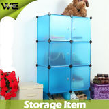 Blue Plastic DIY Storage Cbinet with Many Colors Available (FH-AL0525-6)