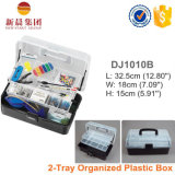 Transparen & Black Color 2-Tray Fishing Storage Box