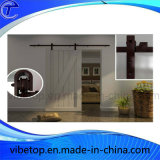 Black Powder Coated Sliding Barn Door Hardware
