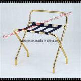 Hotel Room Passenger Folding Suitcase Stand Luggage Rack- Gold Finish