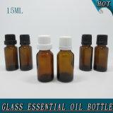 15ml Amber Orifice Reducer Sealing Plastic Cap Glass Essential Oil Bottle