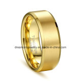 Factory Cheap Gold Color Tungsten Ring