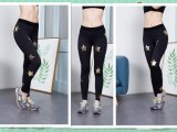 Dry Fit Custom Yoga Pants Wholesale Women Leggings Tights with Golden Star Print
