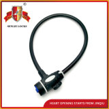 Jq8226 Two Colors Durable Safety Steel Cable Lock Bicycle Lock