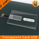 Customized Promotion Gift Transparent Card USB Pendrive (YT-3101-02)