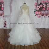 2017 Long Sleeves Muslim Bridal Wedding Gown Gorgeous Fast Delivery