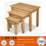 Natural Color Oak Tea Coffee Wooden Wood Square Small End Table