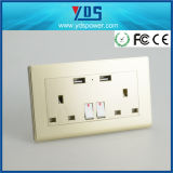 British electric Socket, UK Wall Electric USB Socket Outlet