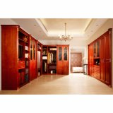 Classics Luxury L-Shaped Solid Wood Open Closet for Cloakroom