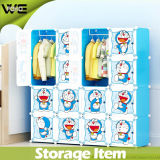 PP Plastic Cubes and 2 Cloth Hangers Wholesale Kids Wardrobe