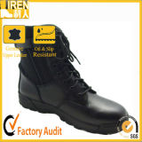 High Quality Durable Genuine Leather Black Military Army Boot