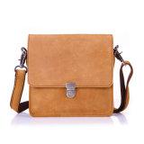 Good Quality Camel Color Crazy Horse Leather Mens Shoulder Bag