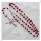 Hot Sale Cheap Cross Beads Religious Wooden Rosary (IO-cr279)