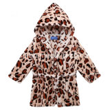 Children′s Hooded Bathrobe Flannel Nightgown Infant Children